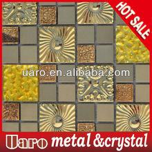 Gold Brushed Metal Mosaic,Metal Mosaic Tile,Metal Tile