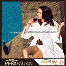 Hotel Cotton Velvet Factory Cheap Kimono Collar Bathrobe, shawl collar bath wrap