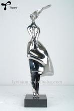 """Scholar"" stainless steel home decoration sculpture"