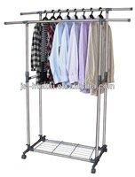 bedroom clothes hanger stand,stainless steel coat hanger stand,metal hanger rackHGY-2