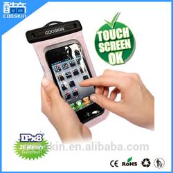 For iphone5/6 Cooskin 100% mobile phone pvc waterproof bag