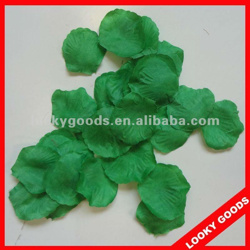 Зеленый цвет шелковые лепестки роз, Декоративный цветок лепестки ...