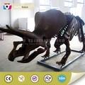 tamaño original tamaño de la vida de animación de esqueleto de dinosaurio