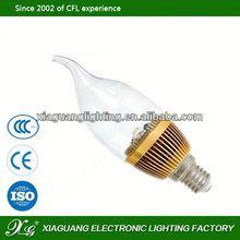 Hot Selling China New E14 E27 3W 5W led candle bulb e14