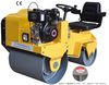 ride-on double drum hydraulic vibratory road roller, mini road roller