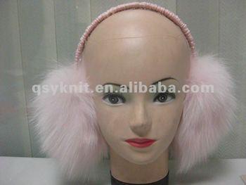 lady's real animal fox fur ear warmer QSY15027