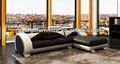 aquecido a frança design de mobiliário de couro sofá de canto chaise com mesa de café