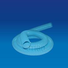 Transparent plastic flexible corrugated hose