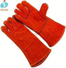 Hot!Reinforced heat massage gloves leather work welding gloves