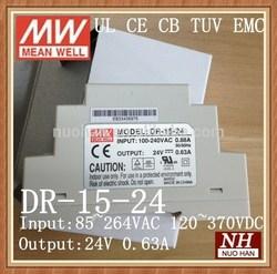 Mean Well 15W 24V DIN Rail Power Supply/15W DIN Power Supply 15w