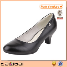 fashion lady low heel dress shoes,genuine leather shoes for women