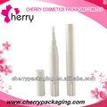 Zylinderförmigen loses pulver rohr weißem kunststoff puder container kosmetik gepressten puder box-verpackung