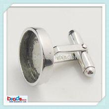 Beadsnice ID 25016 925 Sterling silver cufflink findings custom cufflinks blanks