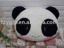 Plush stuffed panda cushion pillows,plush bear throw cushions