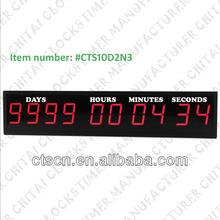 9 Digits 2.3 or 3 inch Shop Windows Digital LED Countdown Timer