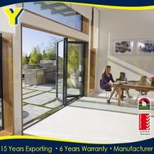 AS2047 certified YY factory on double glazed aluminium doors windows | Aluminum Bi-folding Door