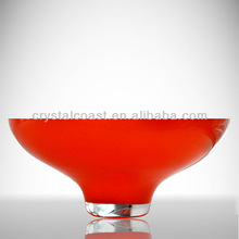 Red charged cheap hurricane dinner tray plates wholesale ;melamine elegant dinner glass plates for chocolate and candy