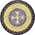 Mármol medallón del mosaico, de cristal de piedra de resina mixta mosaico