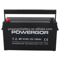 n100mf 100ah 12v high discharge rate car battery