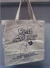 organic plain white cotton bag