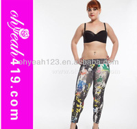 2014 Wholesale colorful hot sale plus size printed leggings