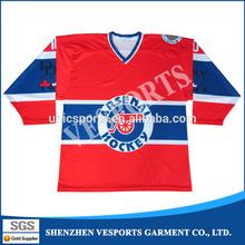 Digitally Printed Ice Hockey Jerseys Warm up Hockey T Shirts