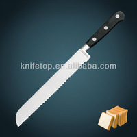 """Professional stainless steel blade forged POM handle 9"""" kitchen Bread knife"""