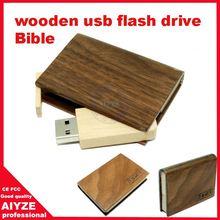 Wholesale wooden book usb flash drive 1GB 2GB 4GB 8GB 16GB 32GB 64GB 128GB 256GB U3223