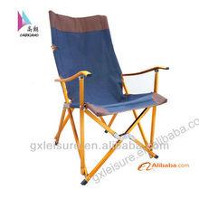gold Aluminium folding camping relax chair