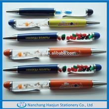 Half Metal Twist Multicolor Custom Liquid Filled Pen