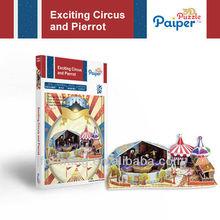 Diy Modell Park Spiele-Design 3d puzzle schaum Zirkus spielzeug