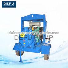 Auto amorçage de l'agriculture d'irrigation pompe Diesel avec remorque
