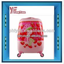 2014 china supplier 16'' ABS kid travel trolley luggage, cartoon cute kids school bags ,cartoon Screen