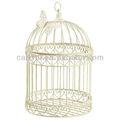 fio branco de casamento decoração de pássaro de gaiola