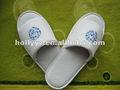 100% de terciopelo de algodón deslizador de fantasía para zapatillas de interior de las mujeres y los hombres zapatillas