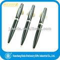 2013 promocional especial mini caneta esferográfica de metal com clip especial 4 buracos metal clip