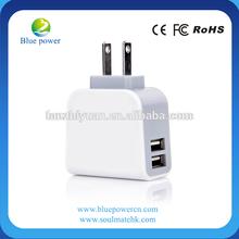 2013 Wholesale Alibaba US/EU plug choice USB 3.1A dual port wall charger for Ipad