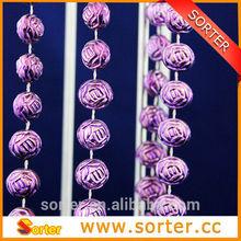 fashion hanging plastic bead chain for Chritmas tree ornament