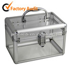 MLD-C07a transparent Manufacturer aluminium makeup case cosmetics case