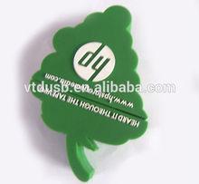 Christmas trees shape USB Pen disks flash drives pen custom thumb keys for hp promotional gifts