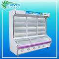 Commercial dépanneur armoireévaporateur vertical porte coulissante en verre d'affichage et de stockage open top réfrigérateurs et les congélateurs avec le prix