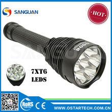 Super Bright 7 T6 Best Cree LED Flashlight / Heavy Duty Lamps Shenzhen SG-7K