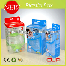 2013 new soft clear plastic pacifier PP box , crease/folding plastic pacifier PP box