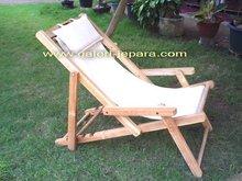 Beach Chair - Deck Chair - Teak Outdoor Furniture