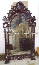 Wooden Wall Mirror - Mirror Decorative Furniture - Antique Reproduction Mirror