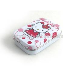 mini rectangular hinged tin case