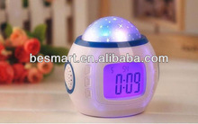 TP1038 Automatic music and starry sky calendar table clock