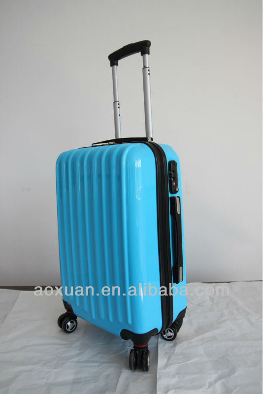 travel luggage/2014 Hot selling 100% PC trolley luggage/polycarbonate trolley luggage