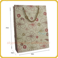 Hot sale customized prinitng sunflower paper gift bag wholesale