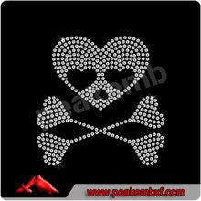 Beautiful Rhinestone Manufacturer Skull And Crossbones Heart